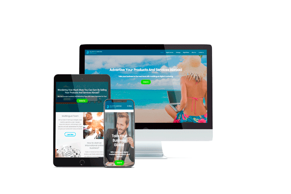multilingual web development - business card website