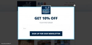 pop up subscribtion form email marketing